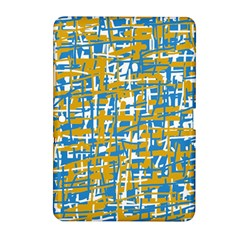 Blue and yellow elegant pattern Samsung Galaxy Tab 2 (10.1 ) P5100 Hardshell Case