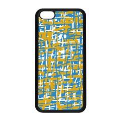 Blue and yellow elegant pattern Apple iPhone 5C Seamless Case (Black)