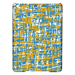 Blue and yellow elegant pattern iPad Air Hardshell Cases