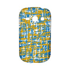 Blue and yellow elegant pattern Samsung Galaxy S6810 Hardshell Case