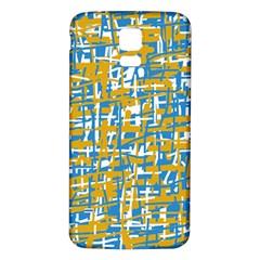 Blue and yellow elegant pattern Samsung Galaxy S5 Back Case (White)