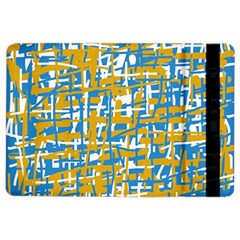 Blue and yellow elegant pattern iPad Air 2 Flip