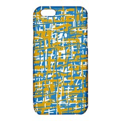 Blue and yellow elegant pattern iPhone 6/6S TPU Case