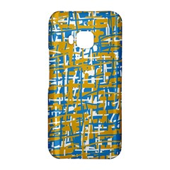 Blue and yellow elegant pattern HTC One M9 Hardshell Case