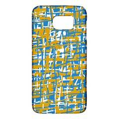 Blue and yellow elegant pattern Galaxy S6