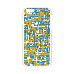 Blue and yellow elegant pattern Apple Seamless iPhone 6/6S Case (Transparent)