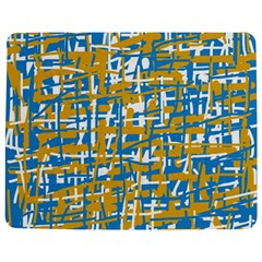 Blue And Yellow Elegant Pattern Jigsaw Puzzle Photo Stand (rectangular)