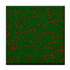 Green and red pattern Tile Coasters