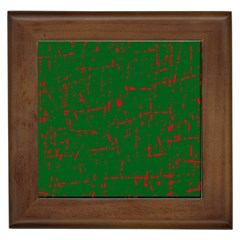 Green and red pattern Framed Tiles