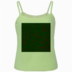 Green and red pattern Green Spaghetti Tank