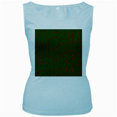 Green and red pattern Women s Baby Blue Tank Top