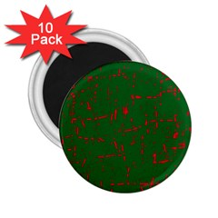Green and red pattern 2.25  Magnets (10 pack)