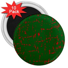 Green and red pattern 3  Magnets (10 pack)