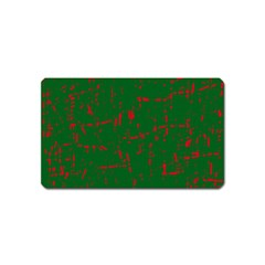 Green and red pattern Magnet (Name Card)
