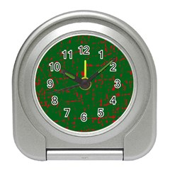 Green and red pattern Travel Alarm Clocks