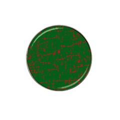 Green and red pattern Hat Clip Ball Marker