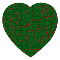 Green and red pattern Jigsaw Puzzle (Heart)