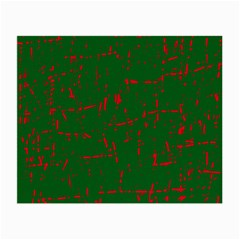Green and red pattern Small Glasses Cloth