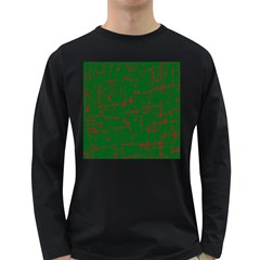 Green and red pattern Long Sleeve Dark T-Shirts