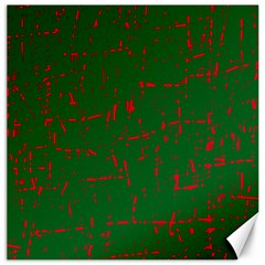 Green and red pattern Canvas 12  x 12