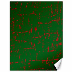 Green and red pattern Canvas 36  x 48