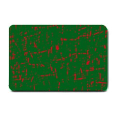 Green and red pattern Small Doormat