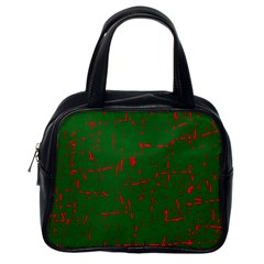 Green and red pattern Classic Handbags (One Side)
