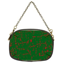 Green and red pattern Chain Purses (One Side)