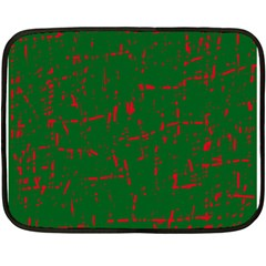 Green and red pattern Fleece Blanket (Mini)