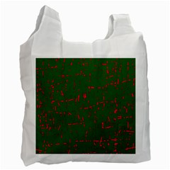 Green and red pattern Recycle Bag (Two Side)