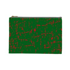 Green and red pattern Cosmetic Bag (Large)