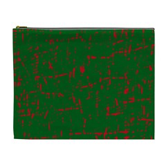 Green and red pattern Cosmetic Bag (XL)