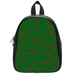 Green and red pattern School Bags (Small)