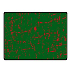 Green and red pattern Fleece Blanket (Small)