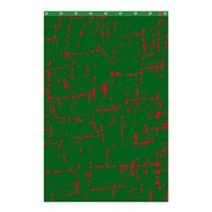 Green and red pattern Shower Curtain 48  x 72  (Small)
