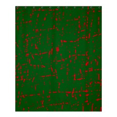 Green and red pattern Shower Curtain 60  x 72  (Medium)