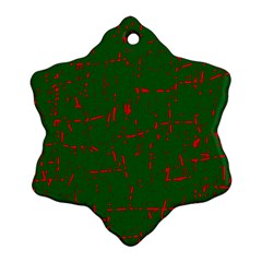 Green and red pattern Ornament (Snowflake)
