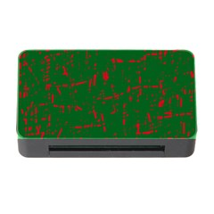 Green and red pattern Memory Card Reader with CF