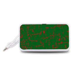 Green and red pattern Portable Speaker (White)