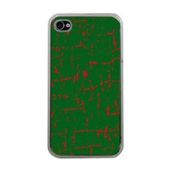 Green and red pattern Apple iPhone 4 Case (Clear)