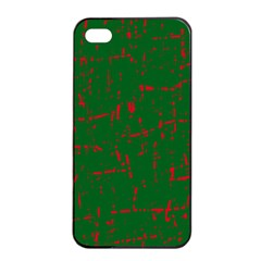 Green and red pattern Apple iPhone 4/4s Seamless Case (Black)