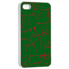 Green and red pattern Apple iPhone 4/4s Seamless Case (White)