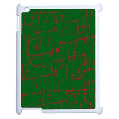 Green and red pattern Apple iPad 2 Case (White)