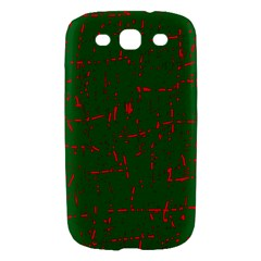 Green and red pattern Samsung Galaxy S III Hardshell Case