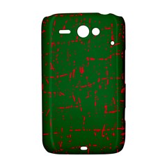 Green and red pattern HTC ChaCha / HTC Status Hardshell Case
