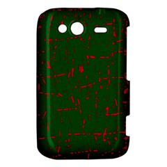 Green and red pattern HTC Wildfire S A510e Hardshell Case
