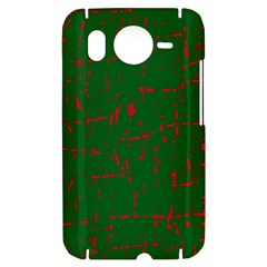 Green and red pattern HTC Desire HD Hardshell Case