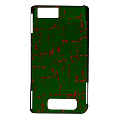 Green and red pattern Motorola DROID X2