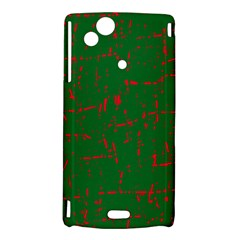 Green and red pattern Sony Xperia Arc