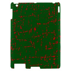Green and red pattern Apple iPad 2 Hardshell Case
